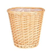Household Essentials Small Willow Waste Basket, Natural (ML-2210)