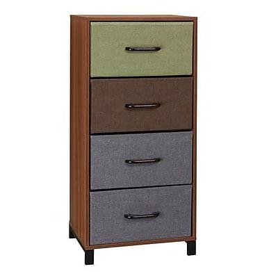 Household Essentials 4-Drawer Storage Chest, Honey Maple (8034-1)