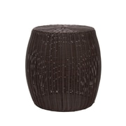 Household Essentials Resin Wicker Barrel Table, Brown (ML-5000)