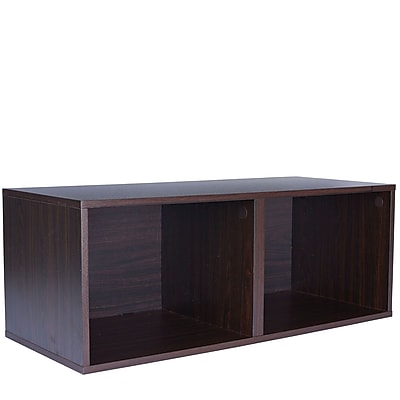 Household Essentials Double Cubby, Espresso (8004-1)