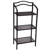Household Essentials Free-Standing 3-Tier Shelves, Espresso (8051-1)