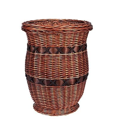 Household Essentials Medium Willow Poplar Wicker Urn Table (ML-2253)