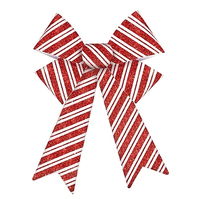 Amscan Candy Cane Glitter Bow, 13.5