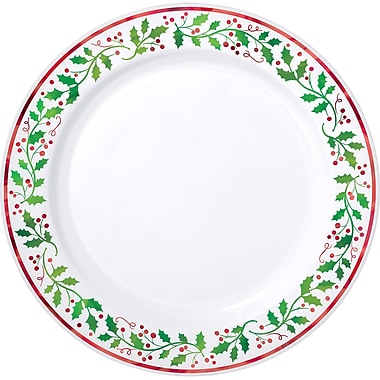 Amscan Christmas Premium Plastic Plate, 10.25