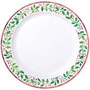 "Amscan Christmas Premium Plastic Plate, 10.25"" x 10.25"" (430165)"