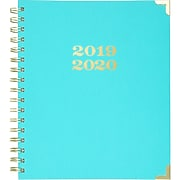 """2019-2020 AT-A-GLANCE 6 7/8"""" x 8 7/8"""" Simplified Academic Weekly/Monthly Hardcover Planner, Turquoise (EL200-805A-19)"""