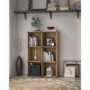kathy ireland® Office by Bush Furniture Ironworks 6-cube Bookcase, Vintage Golden Pine (KI50103-03)