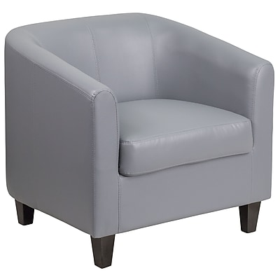Gray Leather Office Guest Chair / Reception Chair (BT-873-GY-GG)