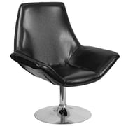 HERCULES Sabrina Series Black Leather Reception Chair (CH-102242-BK-GG)