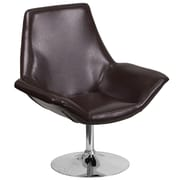 HERCULES Sabrina Series Brown Leather Reception Chair (CH-102242-BRN-GG)