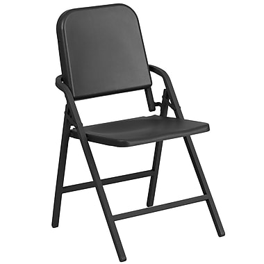 HERCULES Series Black High Density Folding Melody Band/Music Chair (HF-MUS-FLD-GG)
