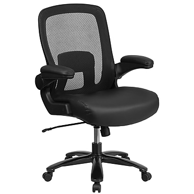 Big & Tall Leather Seat Chair [BT-20180-LEA-GG]