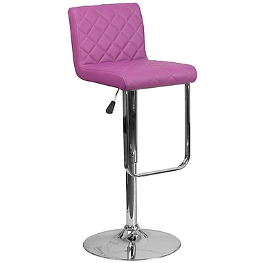 Contemporary Purple Vinyl Adjustable Height Barstool with Chrome Base (DS-8101-PUR-GG)