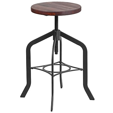 24'' Counter Height Stool with Swivel Lift Wood Seat (ET-BM3732-24-GG)
