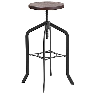 30'' Barstool with Swivel Lift Wood Seat (ET-BM3732-30-GG)