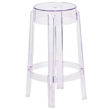 25.75'' High Transparent Counter Height Stool (FH-118-APC1-GG)