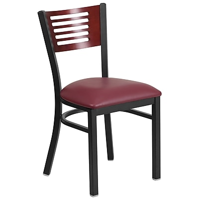 Metal Restaurant Chair [XU-DG-6G5B-MAH-BURV-GG]
