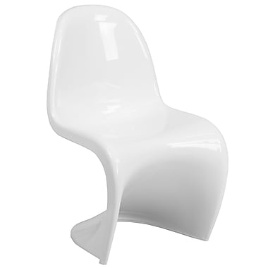 Mystique Series White Plastic Stacking Side Chair (FH-127-AAS-WH-GG)