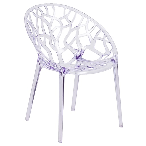 Specter Series Transparent Stacking Side Chair (FH-156-APC-GG)