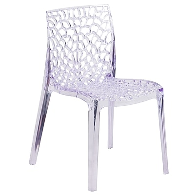 Vision Series Transparent Stacking Side Chair (FH-161-APC-GG)