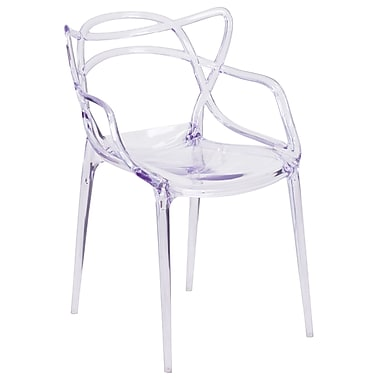 Nesting Series Transparent Stacking Side Chair (FH-173-APC-GG)