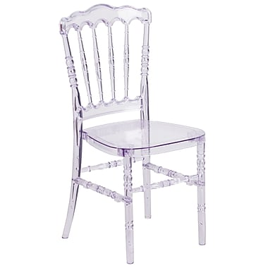 Flash Elegance – Chaise empilable Napoleon, glace cristal (Y-1-GG)
