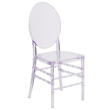 Flash Elegance Crystal Ice Stacking Florence Chair (Y-3-GG)