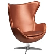 Copper Leather Egg Chair with Tilt-Lock Mechanism (ZB-22-GG)