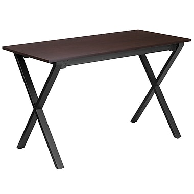 47.5''W x 23.75''D Walnut Computer Desk with Black Frame (NAN-JN-2611-GG)