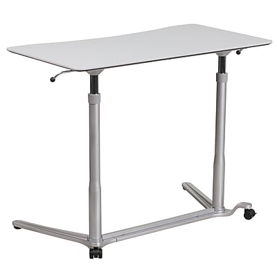 SitDown StandUp Light Gray Computer Desk with 37375W Top