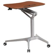 Mobile Sit-Down, Stand-Up Mahogany Computer Desk with 28.25''W Top (Adjustable Range 29'' - 41'') (NAN-IP-10-GG)
