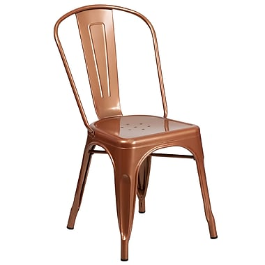 Copper Metal Indoor-Outdoor Stackable Chair (ET-3534-POC-GG)
