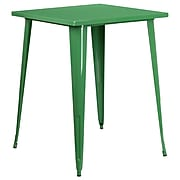 31.5'' Square Bar Height Green Metal Indoor-Outdoor Table [CH-51040-40-GN-GG]
