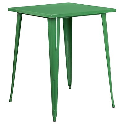 31.5'' Square Bar Height Green Metal Indoor-Outdoor Table (CH-51040-40-GN-GG)
