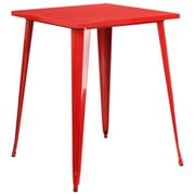 31.5'' Square Bar Height Red Metal Indoor-Outdoor Table (CH-51040-40-RED-GG)