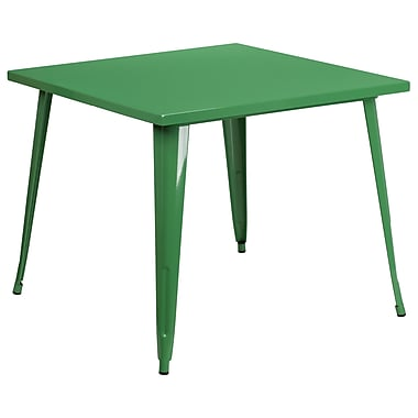 35.5'' Square Green Metal Indoor-Outdoor Table (CH-51050-29-GN-GG)