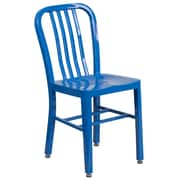 Blue Metal Indoor-Outdoor Chair (CH-61200-18-BL-GG)