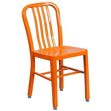 Orange Metal Indoor-Outdoor Chair (CH-61200-18-OR-GG)