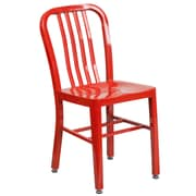 Red Metal Indoor-Outdoor Chair (CH-61200-18-RED-GG)