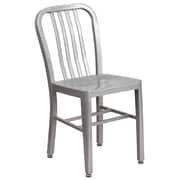 Silver Metal Indoor-Outdoor Chair (CH-61200-18-SIL-GG)