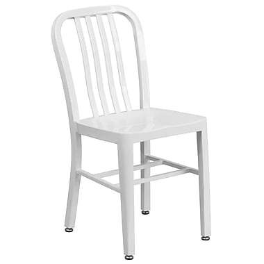 Metal Indoor-Outdoor Chair (CH-61200-18-WH-GG)