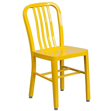 Yellow Metal Indoor-Outdoor Chair (CH-61200-18-YL-GG)
