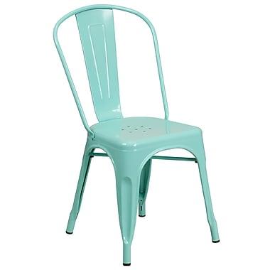 Mint Green Metal Indoor-Outdoor Stackable Chair (ET-3534-MINT-GG)