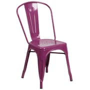 Purple Metal Indoor-Outdoor Stackable Chair (ET-3534-PUR-GG)