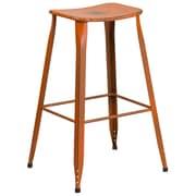 30'' High Distressed Orange Metal Indoor-Outdoor Barstool (ET-3604-30-DISOR-GG)
