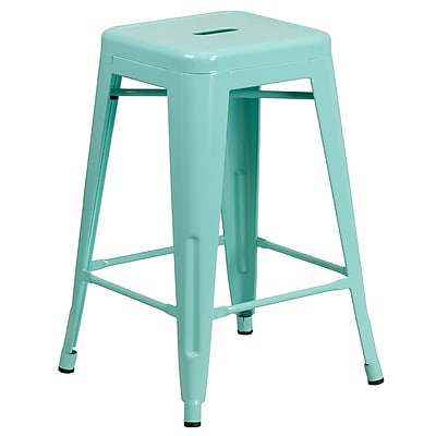 24'' High Backless Mint Green Indoor-Outdoor Counter Height Stool (ET-BT3503-24-MINT-GG)