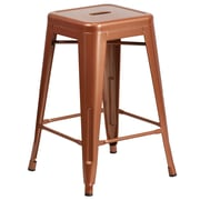 24'' High Backless Copper Indoor-Outdoor Counter Height Stool (ET-BT3503-24-POC-GG)