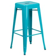 30'' High Backless Crystal Teal-Blue Indoor-Outdoor Barstool (ET-BT3503-30-CB-GG)