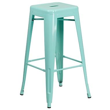 30'' High Backless Mint Green Indoor-Outdoor Barstool (ET-BT3503-30-MINT-GG)