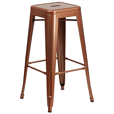 30'' High Backless Copper Indoor-Outdoor Barstool (ET-BT3503-30-POC-GG)